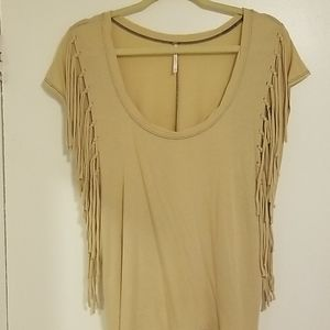 "Free People ""Fantasy Fringe"" Short Sleeves Top"